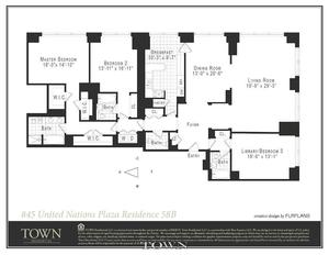 floorplan for 845 United Nations Plaza #43B