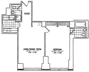 floorplan for 845 United Nations Plaza #11B