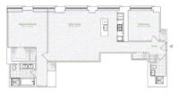 floorplan for 1 River Terrace #6A
