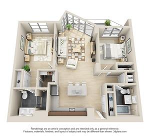 floorplan for 111 Kent Avenue #2N