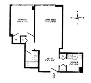 floorplan for 61 West 62nd Street #22A