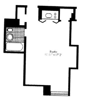 floorplan for 5 Tudor City Place #2017