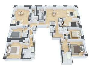 floorplan for 845 UN Plaza #83AD