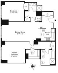 floorplan for 15 Central Park West #6L