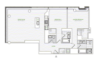 floorplan for 1 River Terrace #24E