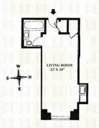 floorplan for 5 Tudor City Place #1934