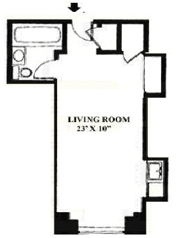 floorplan for 5 Tudor City Place #1434
