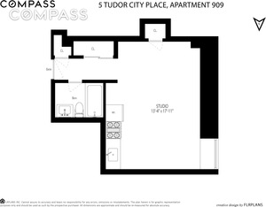 floorplan for 5 Tudor City Place #909