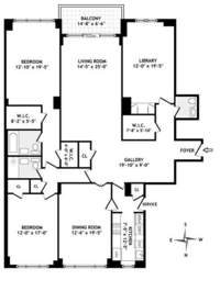 floorplan for 150 East 69th Street #19A