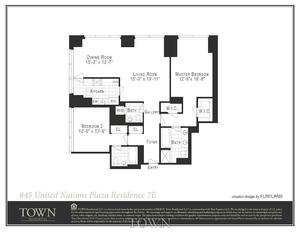 floorplan for 845 United Nations Plaza #20E