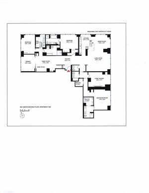 floorplan for 845 United Nations Plaza #32A
