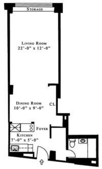 floorplan for 61 West 62nd Street #5MN