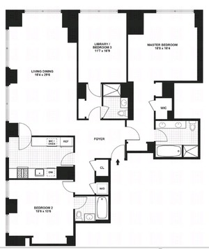 floorplan for 845 United Nations Plaza #9A