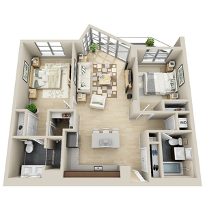 floorplan for 111 Kent Avenue #4L