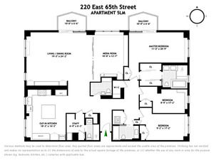 floorplan for 220 East 65th Street #5LM