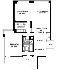 floorplan for 150 East 69th Street #2L