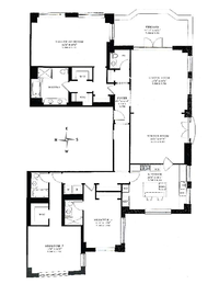 floorplan for 15 Central Park West #38A