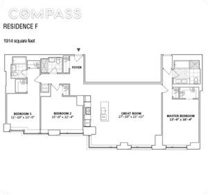 floorplan for 2 River Terrace #8F