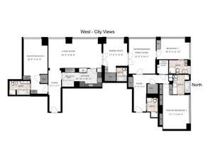 floorplan for 845 United Nations Plaza #34DE