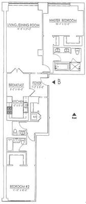 floorplan for 15 Central Park West #24B