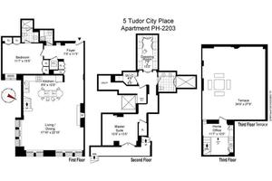 floorplan for 5 Tudor City Place #PH3