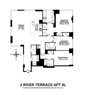 floorplan for 2 River Terrace #8L