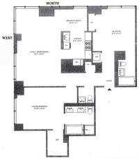 floorplan for 300 East 79th Street #4B
