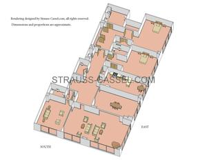 floorplan for 845 United Nations Plaza #38B