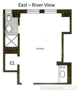 floorplan for 5 Tudor City Place #1637