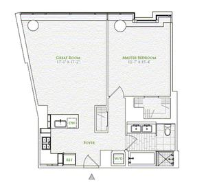 floorplan for 2 River Terrace #6K