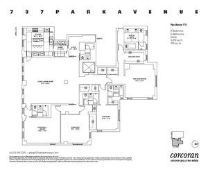 floorplan for 737 Park Avenue #17E