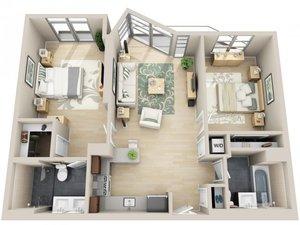 floorplan for 111 Kent Avenue #6L