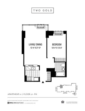 floorplan for 2 Gold Street #3811