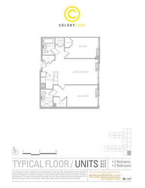 floorplan for 1209 Dekalb Avenue #217