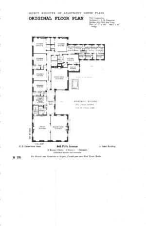floorplan for 4 East 66th Street #5