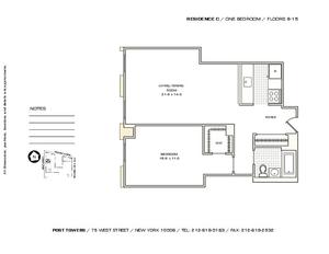 floorplan for 75 West Street #8C