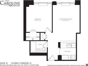 floorplan for 60 West 23rd Street #716