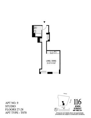 floorplan for 116 John Street #2709