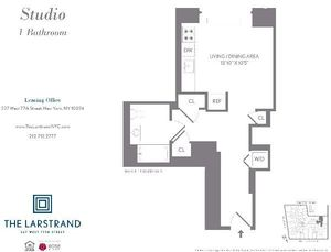 floorplan for 227 West 77th Street #9A