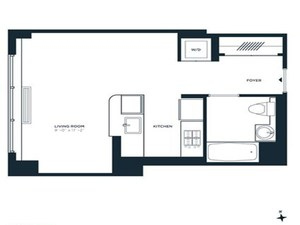 floorplan for 305 West 16th Street #4B