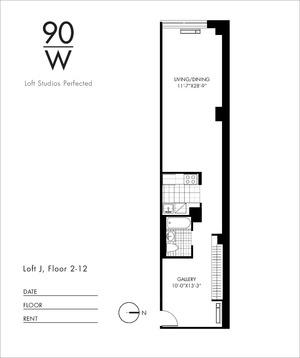 floorplan for 90 Washington Street #4J