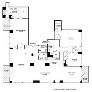 floorplan for 422 East 72nd Street #33E