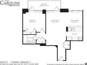 floorplan for 60 West 23rd Street #1115
