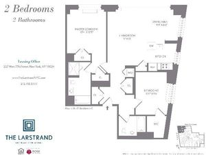 floorplan for 227 West 77th Street #16G