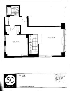 floorplan for 50 Murray Street #1522