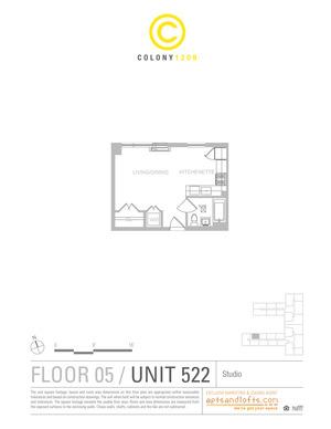 floorplan for 1209 Dekalb Avenue #522