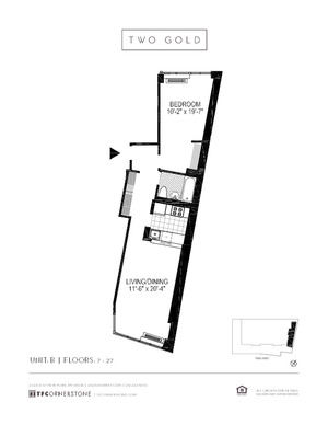 floorplan for 2 Gold Street #17B