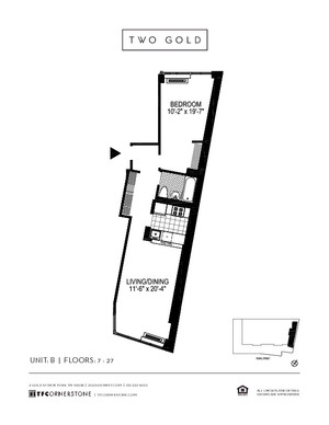 floorplan for 2 Gold Street #23B