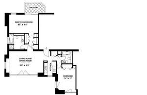 floorplan for 52 East End Avenue #37B