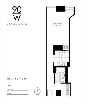 floorplan for 90 Washington Street #3M